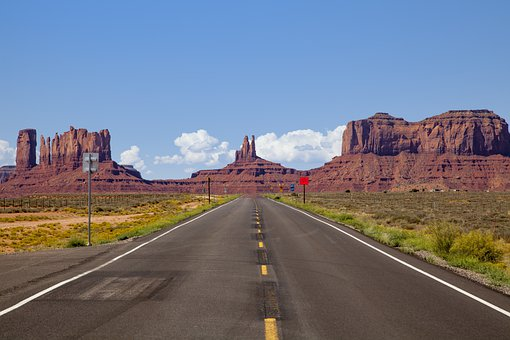 Canyon, Road, Monument Valley, Roadtrip, Drive, Rocks