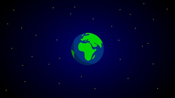 Earth, Globe, Space, Stars, Background, Wallpaper