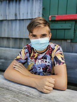 Teenager, Student, Mouth Guard, Mask, Covid-19, Virus