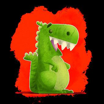 Dinosaur, Cartoon, Animal, Character, Dino, Art, Chart
