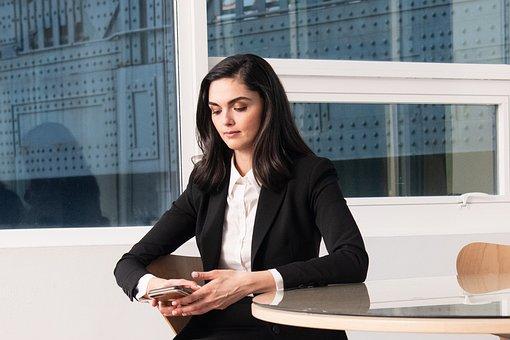 Woman, Blazer, Texting, Business, Professional, Phone