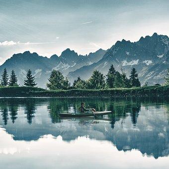 Lake, Water, Water Reflection, Boat, Canoe, Nature
