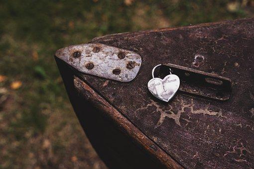 Heart, Boat, Old, Symbol, Vintage, Lock, Padlock