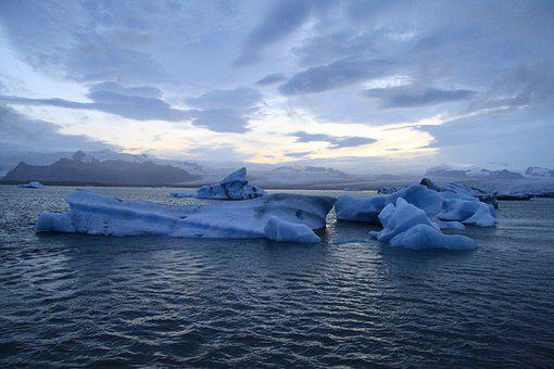 Iceland, Iceberg, Cold, Ice, Seascape, Horizon