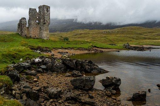 Scotland, Castle, Ruins, Medieval, Landscape, Old