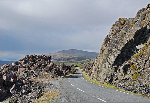 Road, Highway, Freeway, Asphalt, Meander, Stone, Rock