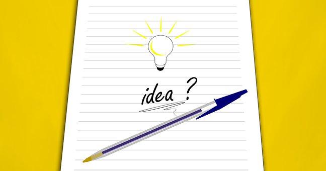 Idea, Pen, Paper, Bulb, Creativity
