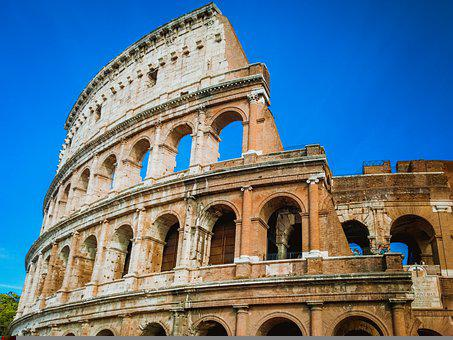 Colosseum, Italy, Rome, Roma, Architecture, Europe