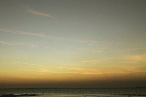 Sea, Beach, Ocean, Horizon, Seascape, Water, Sky, Dusk