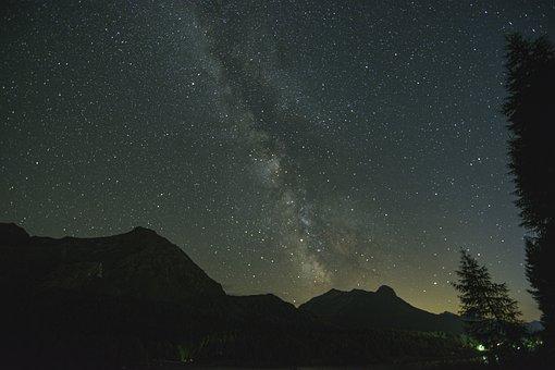 Milky Way, Night Sky, Stars, Alpine, Mountains, Sky