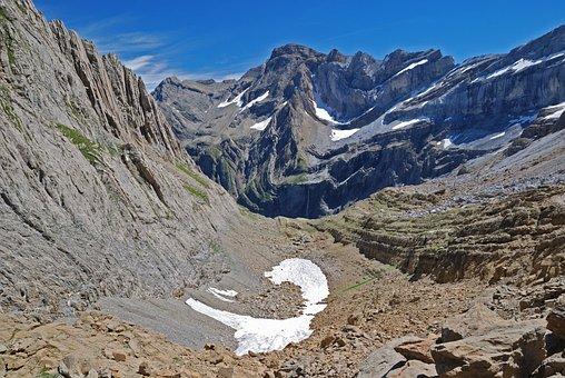 Mountain, Peak, Amphitheater, Wall, Limestone, Twisted