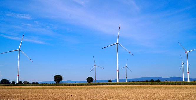 Windräder, Windmill, Air, Energy, Power, Field