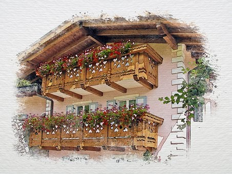 Alpine Dwelling, Alpine House, Balconies