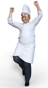 Chef, Wave, Cook, Waving, Food, Catering, Baker, Person