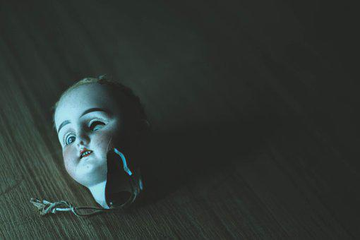 Doll, Doll Head, Antique, Cracked, Spooky, Scary