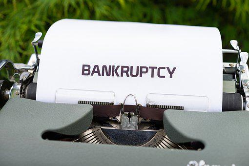 Typewriter, Bankruptcy, Money, Company, Economy
