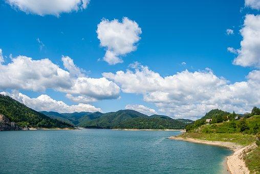 Tara Mountain, Zaovine Lake, Lake, Panorama, Forest
