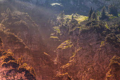 Mountains, Alpine, Sunbeam, Warm, Hike, View, Panorama