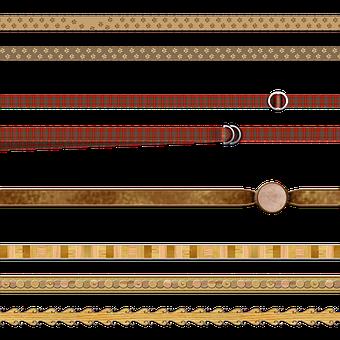 Ribbons, Wood, Paw Prints, Design, Pattern