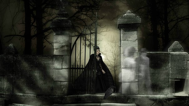 Woman, Fantasy, Cemetery, Spooky, Ghosts, Scene