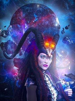 Fantasy, 3d, Dragon, Magic, Woman, Futuristic, Surreal
