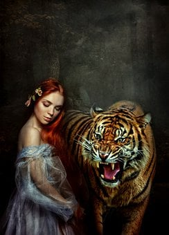 Woman, Tiger, Terror, Mystery, Nightmare, Scary, Ghost