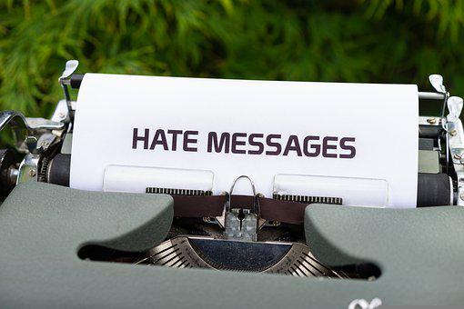 Typewriter, Hate Messages, Hatred, Internet, Bullying