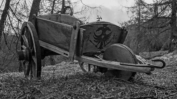 Wagon, Ancient, Artifact, Wooden, Rustic, Farmer, Rural
