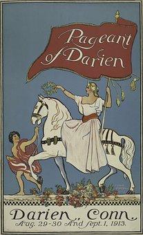 Woman, Man, White Horse, Boy, Animal, Female, Medieval