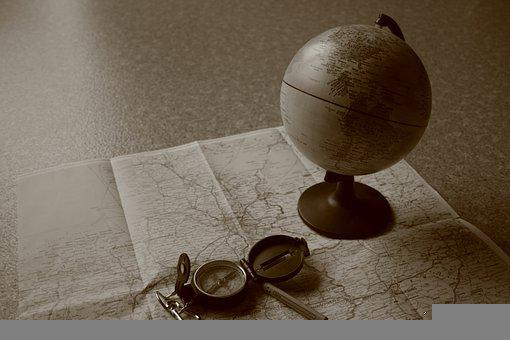 Map, Globe, Geography, Globetrotter, Retro, Global