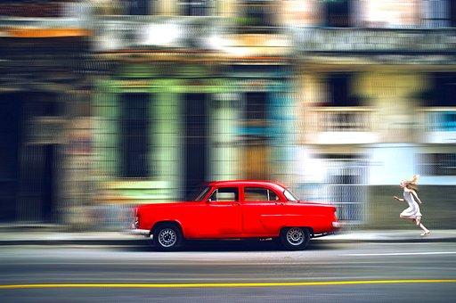 Car, Vehicle, Chase, Speed, Blur, Street, Child