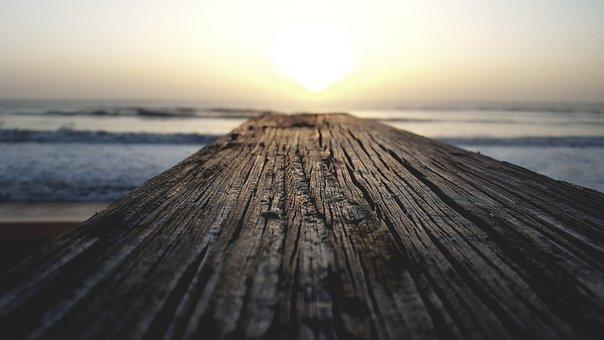 Sun, Wood, Sunshine, Ocean, Sunlight, Nature