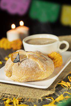 Bread, Sweet Bread, Meal, Traditional, Coffee, Flowers