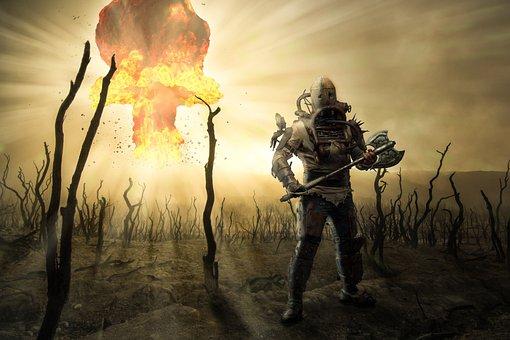Warrior, Nuclear War, Destruction, War, Apocalypse