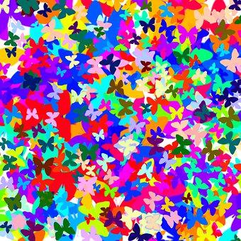 Butterfly Digital Paper, Butterfly Pattern, Butterflies