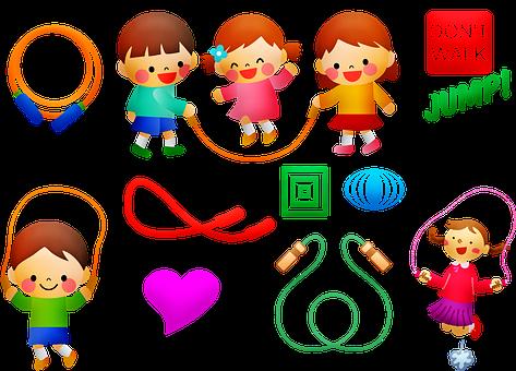 Children Jump Rope, Jump Rope, Boy, Children, Fun