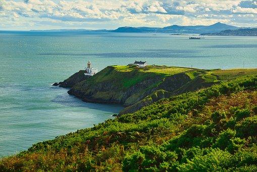 Ireland, Dublin, Howth, Landscape, Seascape, Cliffs