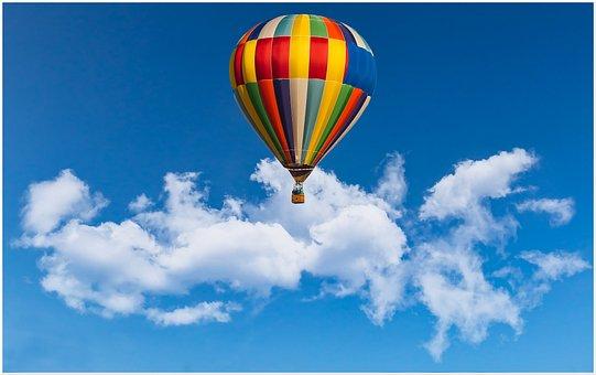 Hot Air Ballon, Balloon, Sky, Float, Basket, Glide