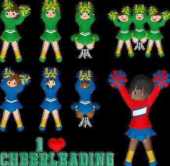 Cheerleading, Cheerleader, Afro American, Girl, Team