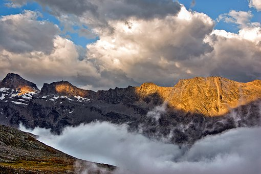 Mountains, Mountain Range, Alps, High Altitude, Fog
