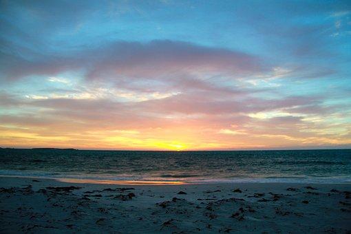 Sunset, Sky, Nature, Beach, Landscape, Sea, Evening