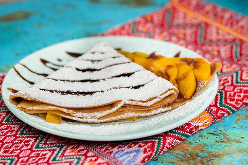 Crepe, Peaches, Food, Flavors, Fruits, Delicious, Sweet