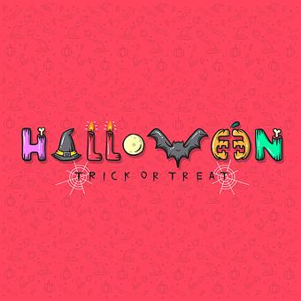 Halloween, Typography, Lettering, Poster, Pumpkin