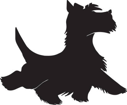 Dog Silhouette, Dog, Icon, Terrier, Silhouette, Puppy