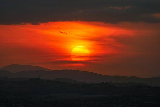 Sun, Sunrise, Sunset, Sky, Skyscape, Backlighting