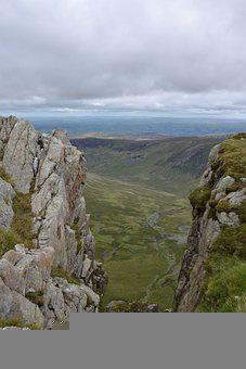 Rocks, View, Mountains, Cliff, Hiking, Mountaineering