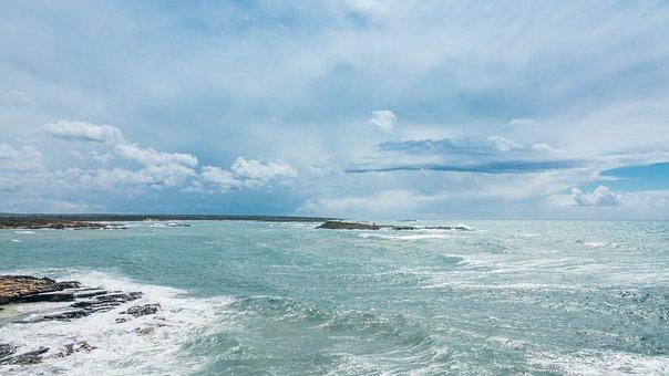 Ocean, Sea, Waves, Beach, Sky, Clouds, Nature