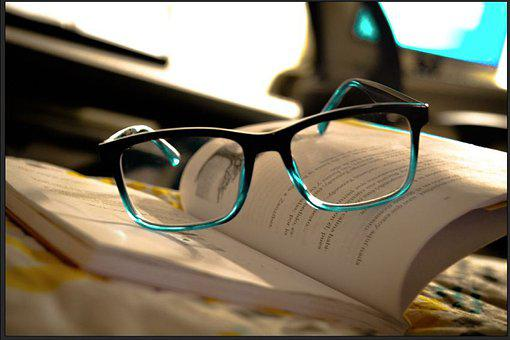 Glasses, Eyeglasses, Eyewear, Book, Textbook