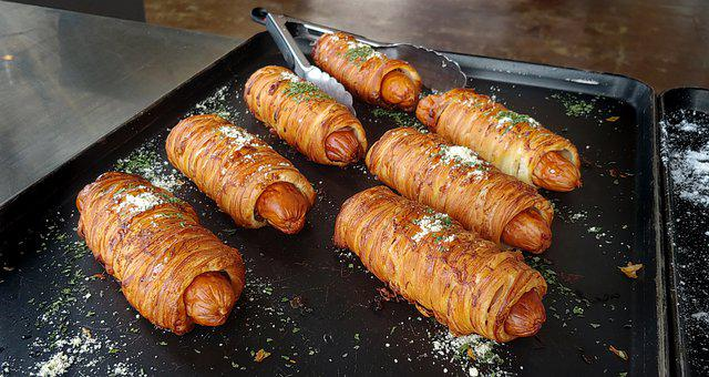 Meal, Dish, Recipe, Bread, Hot Dog, Bakery, Croissants