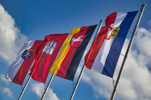 Flags, Flagpoles, German State Flags, Civil Flags